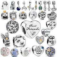 Wholesale European Minnie Beads Silver Charms For 925 Sterling Bracelet Bangles