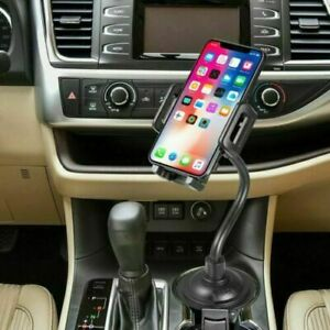 For iPhone Cell Phone Universal Car Cup Mount Adjustable Gooseneck Holder Cradle