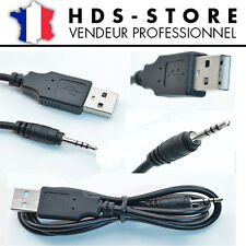 CÂBLE JACK USB CHARGE / CONNEXION POUR MONTRE CAMERA USB A MÂLE VERS JACK 2.5 MM
