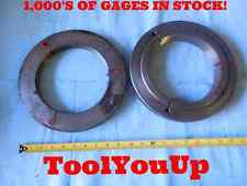 7 8 UNJ 3A THREAD RING GAGES 7.00 GO NO GO P.D.'S = 6.9164 & 6.9115 INSPECTION