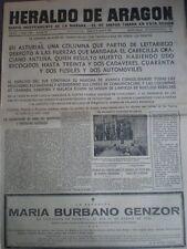 PERIÓDICO GUERRA CIVIL 22 AGOSTO 1936 BATALLA ASTURIAS