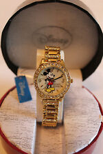 New Disney Mickey Mouse ladies gold plated watch, Quartz.new/warranty