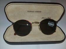 New Giorgio Armani Vintage 132 759 Tortoise Sunglasses Unisex/ Italy W/ Ga Case