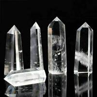 Natural Clear Quartz Stone Healing Crystal Gemstone Double Point Wand Reiki
