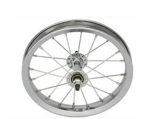 """BICYCLE FRONT WHEEL for 12"""" BIKES STEEL BEACH CRUISER LOWRIDER BMX MTB CYCLING"""