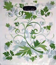 100 Tragetaschen Tragetüten Tüte Plastiktüten grüne Blumen 33x40