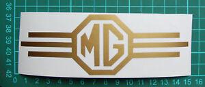 MG Shield Vinyl Logo Decal Free P&P