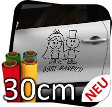 30cm Just Married Hochzeit Heiraten Ringe Autoaufkleber Aufkleber Sticker No.2