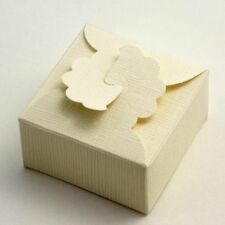 10 Ivory Silk Margherita 90x90x45mm Wedding Favour Boxes
