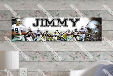 Personalized/Customized Dallas Cowboys Name Poster Wall Art Decoration Banner