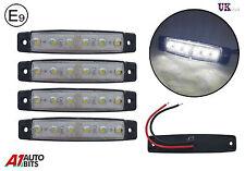 4 x 6 LED Blanco Claro Lateral Trasero Delantero Luces de marcaje Remolque