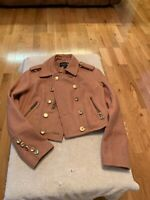 forever 21 Ladies Cropped Jacket Tan Fully Lined Size S/P