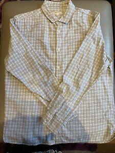 Mens River Island White Grey Shirt Size L