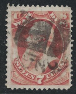 Scott O87- Used, large tear- 7c Official Mail, War Department (1873)