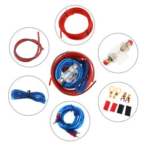 Car Audio 8 Gauge Cable Kit Amp Amplifier Install RCA Subwoofer Sub Wiring New