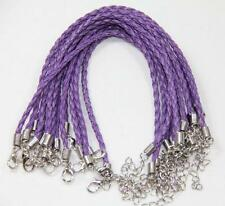 Wholesale 10pcs Braided Rope Leather Bracelet Charm Cuff Bangle Lots Colors