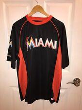 MLB Black Orange MLB Authentic Merch Miami Marlins Jersey Mens Large Stitches