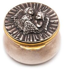 BUCCELLATI MILANO VINTAGE .925 STERLING SILVER BOX WITH 18 KT VERMEIL RARE PIECE