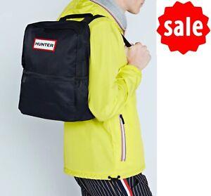 SALE Hunter Original Nylon Backpack Adjustable Back Straps Black Capacity 16L