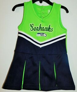 """Seattle Seahawks Infant /Toddler Girl,s """"In the Spirit Cheer Dress, Cheerleader"""