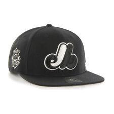 Montreal Expos - '47 Brand MLB Snapback Hat Cap -Flat Brim Sure Shot Cooperstown