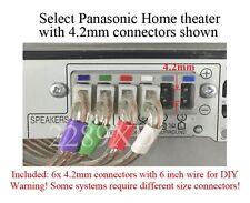 6c 4.2mm speaker plugs made for Panasonic HT SC/SA-BTT190/BTT195/BTT268/BTT270