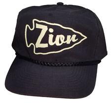 Zion Utah Arrowhead  Black Snapback Nylon Boardwalk Hat Cap National Park
