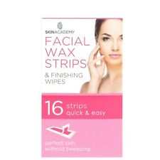 Skin Academy 16 Facial Wax Strips or 28 Eyebrow Shapers