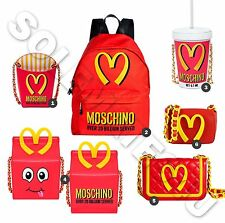 MOSCHINO MC'DONALDS FAST FOOD 6 BAGS: HAPPY MEAL MILKSHAKE FRENCH FRIES BACKPACK