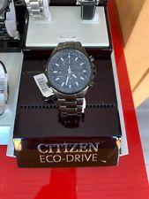 CITIZEN ECO-DRIVE MEN'S WATCH CHRONO NIGHTHAWK S/S ORIGINAL JAPAN AT4117-56H NEW