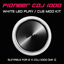 PIONEER CDJ 1000 MK1 WHITE PLAY or CUE LED MOD KIT (FOR 2 x CDJS) DJM DDJ