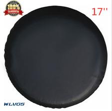 "17""trailer Spare tire tyre Wheel Cover Pure black Heavy Duty Vinyl Material S10"
