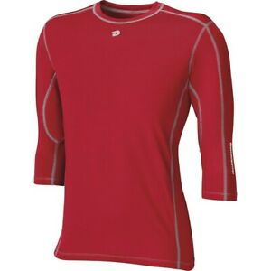 DeMarini Adult CoMotion Mid Sleeve Performance Shirt SCARLET XL
