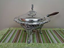 """Reed & Barton Silverplate King Francis 2 Qt Chafing Dish 13"""" w/ Liner Exc 1636"""