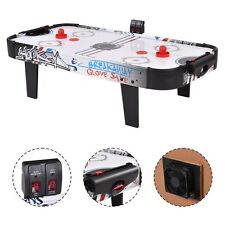 "42""Air Powered Hockey Table Game Room Indoor Sport Electronic Scoring 2 Pushers"