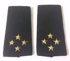 2 Fourreaux d'épaules Grades Galons pour GÉNÉRAL DE CORPS D'ARMÉE armée de terre
