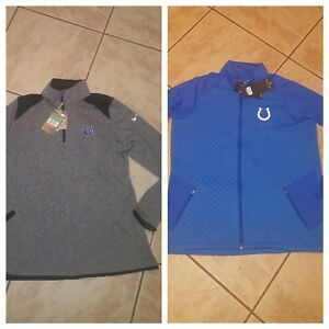 ~NWT~ Women's Blue INDIANAPOLIS COLTS ANTIGUA Full Zip OR NIKE 1/4 zip Jacket XL
