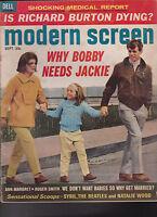 Modern Screen Magazine Jackie Kennedy Beatles Richard Burton September 1965