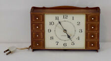Vintage General Electric Hanging Electric Wall Clock Model 2129 Chest of Drawers