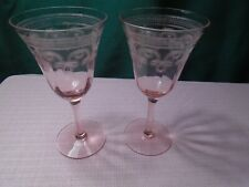 Set of 5 Tiffin-Franciscan Canterbury II Pink Luncheon Plates