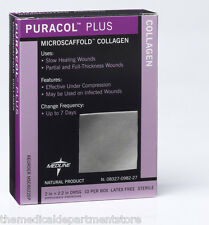 """Medline Puracol Plus Collagen Dressing for Wounds 2"""" x 2.2"""", Box of 10"""