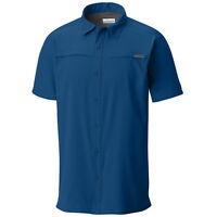 "New Mens Columbia ""Meadowgate"" Omni-Shade / Wick Vented S/S Fishing Shirt"