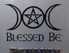 """Blessed be Triple moon Pentagram ""  gods myths stickers/car/van/window/decal"