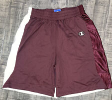 Uslacrosse By Champion Youth Size Large L Lacrosse Shorts Maroon & White New