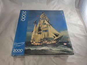 Springbok Running Free 2000 Piece Jigsaw Puzzle New Sealed Hallmark Sailing Boat