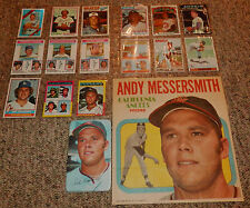 Andy Messersmith Collection of 17 DIFF items Topps Kelloggs Poster Giants, etc.