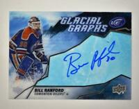 2019-20 ICE Glacial Graphs Auto #GG-BR Bill Ranford - Edmonton Oilers