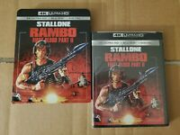 Rambo First Blood II: w/RARE Slipcover (4K Ultra HD & Blu-ray) No Code