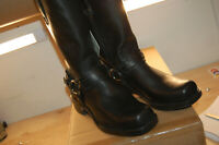 New Frye Belted Harness 12R Boots Mens Black Made In USA size 9.5 med $375