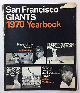 baseball SAN FRANCISCO GIANTS 1970 YEARBOOK ~ Willie Mays, Willie McCovey